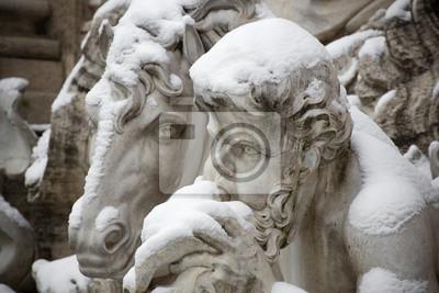Detalle de la Fuente de Trevi en Roma.
