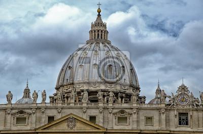 """Detalle del Palacio del Vaticano, """"La Cúpula"""", con hermosas s"""
