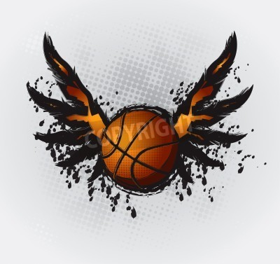 Póster Dibujo Diseño Baloncesto Elemento 1 Vector