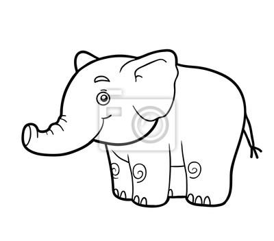 Dibujo para colorear, dibujo para colorear (elefante) carteles para ...