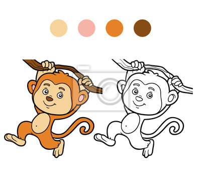 Dibujo para colorear, dibujo para colorear (mono) carteles para la ...