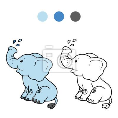 Dibujo Para Colorear Para Niños Elefante Carteles Para La Pared