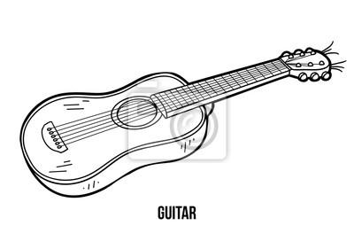 Dibujo Para Colorear Para Niños Instrumentos Musicales