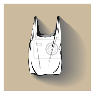 Dibujo Vectorial De La Bolsa De Plástico Con La Sombra Carteles Para
