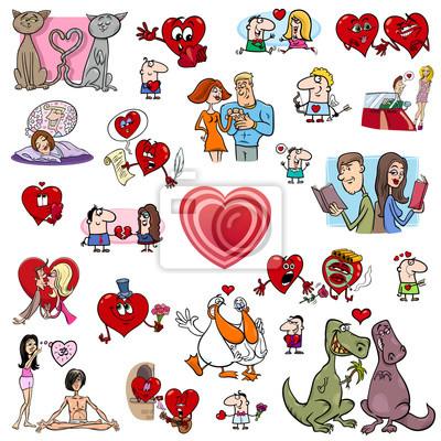 Dibujos Animados De San Valentín Carteles Para La Pared Pósters