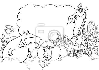Póster Dibujos Para Colorear Animales Salvajes