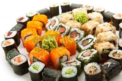 Póster Diferentes tipos de Maki Sushi