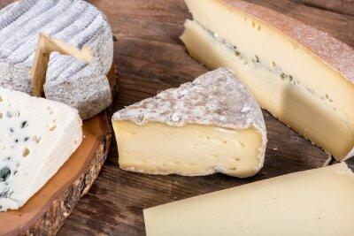 Póster Diferentes variedades de quesos franceses