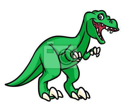 Dinosaurio Tyrannosaurus Rex Predador Ilustración De Dibujos
