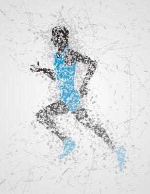 Póster diseño atleta