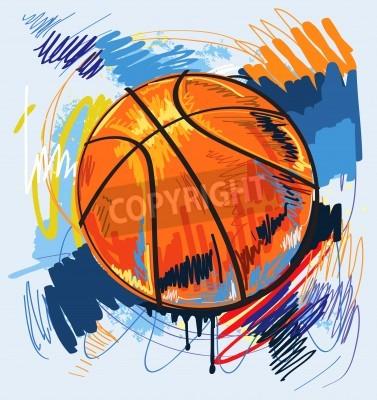 Póster Diseño de baloncesto de color de fondo