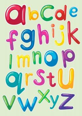 Póster Diseño de fuentes con alfabetos ingleses