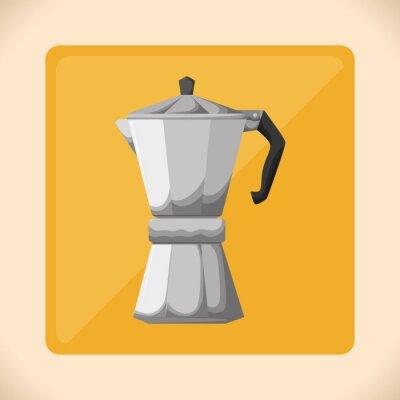 Póster Diseño de icono de Coffe