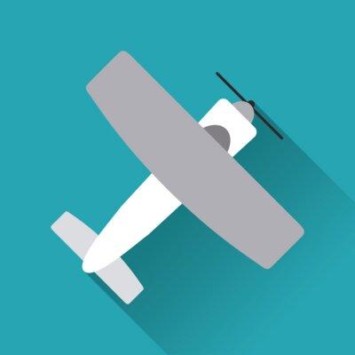 Póster Diseño de iconos de avión