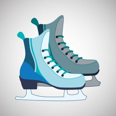 Póster Diseño de iconos de patinaje
