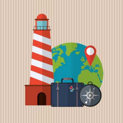 Póster Diseño de iconos de viajes