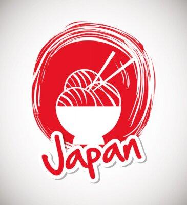 Póster Diseño de la cultura de Japón