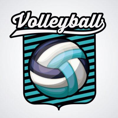 Póster Diseño de la liga de voleibol