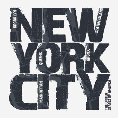 Póster Diseño de la tipografía de New York City