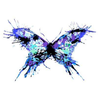 Póster diseño de mariposas