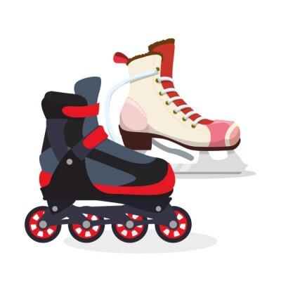 Póster Diseño del icono de patinaje