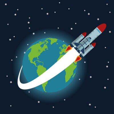 Póster Diseño del icono del espacio