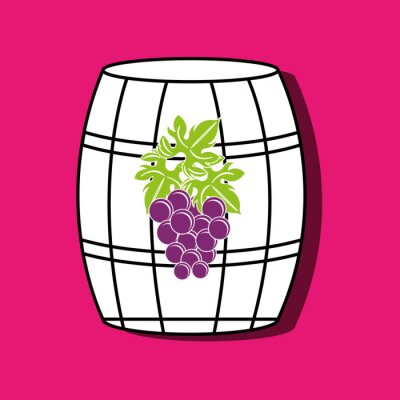 Póster Diseño del icono del vino