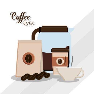 Póster Diseño del tiempo del café