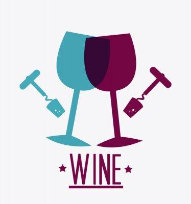 Póster Diseño del vino.