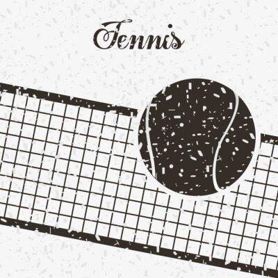 Póster Diseño deportivo tenis