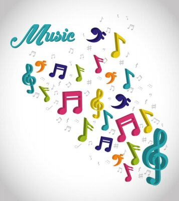Póster Diseño digital de música.