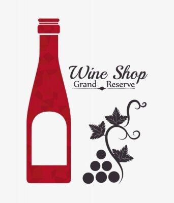 Póster Diseño digital del Vino.