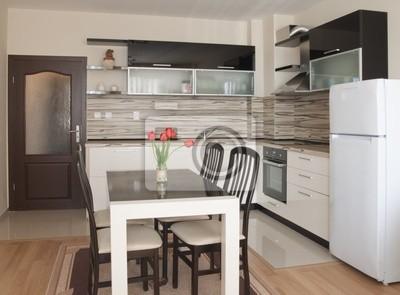 Diseño interior de la cocina moderna carteles para la pared ...