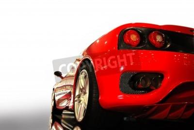 Póster disparo de un coche deportivo de color rojo (ferrari)