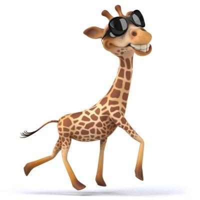 Póster Diversión jirafa
