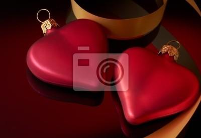 Dos corazones con la cinta