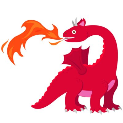 Póster Dragón de respiración de fuego
