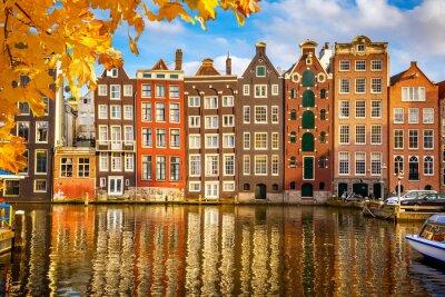 Póster Edificios viejos en Amsterdam