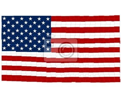 EE.UU. bandera - plazas