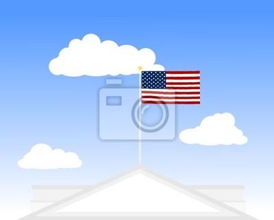 EE.UU., Estados Unidos, la bandera americana - Whitehouse