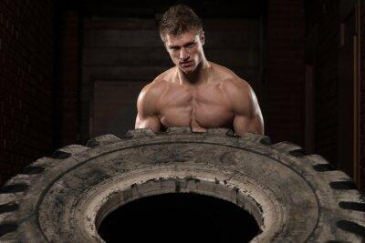 Póster Ejercicio de entrenamiento de neumáticos