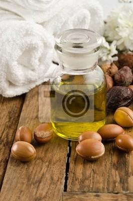 el aceite de argán con frutas