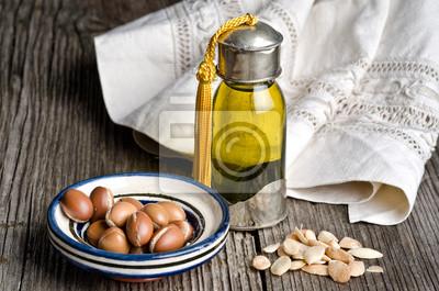 El aceite de argán y fruta