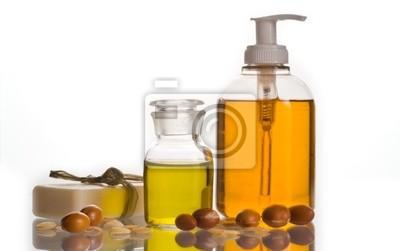 El aceite de argán y producto cosmético