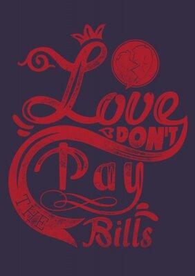 Póster El amor no paga las facturas