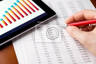 El análisis de informe financiero
