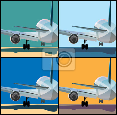 El avión está aterrizando o despegando