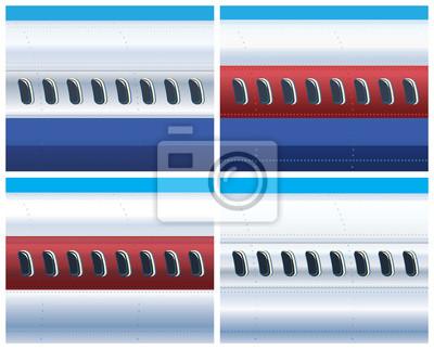 El fuselaje de un avión comercial