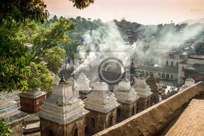 El humo de The Funeral Gat en Pashupatinath