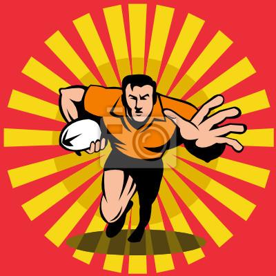 El jugador de rugby defenderse